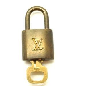Gold Alma Speedy Keepall Lock and Key Set #304 Bag
